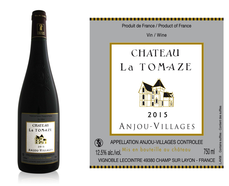 Vin d 39 anjou villages 2015 vente de bouteille d 39 anjou - Achat de bouteille de vin vide ...